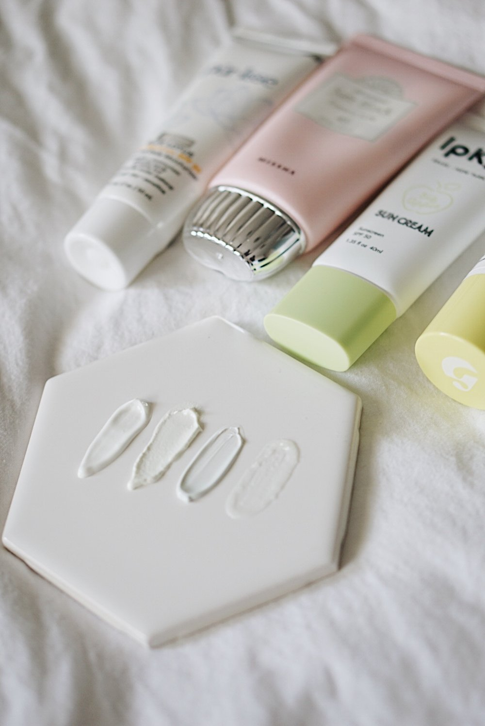Sunscreen: Glossier, Purlisse, MISSHA, IPKN