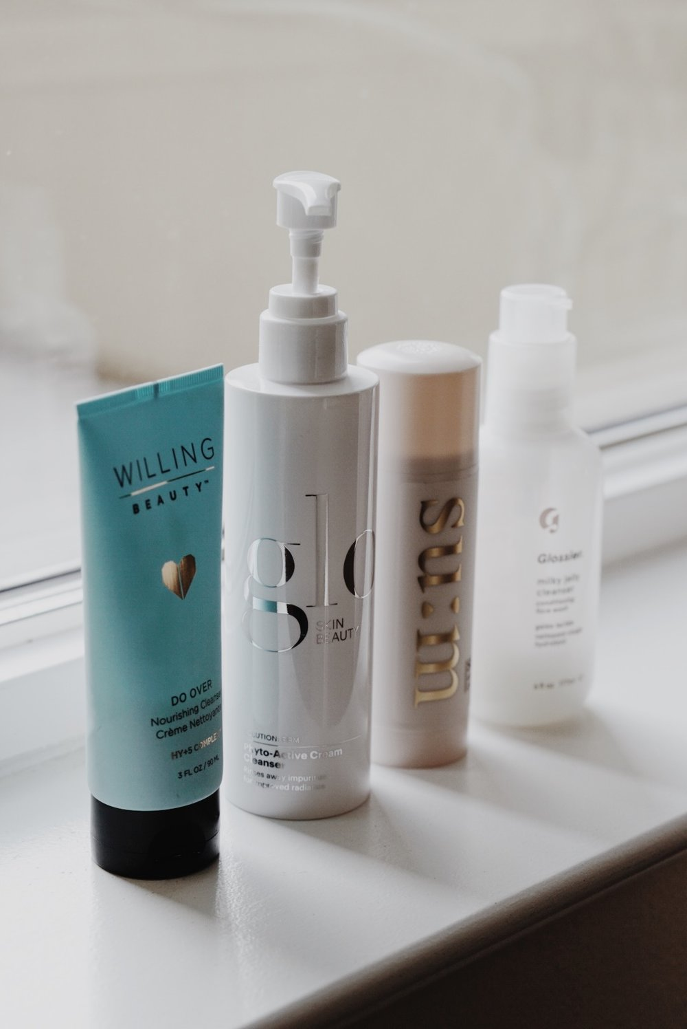 Face Washes on Rotation | Willing Beauty, Glo Skin, Sum37, Glossier