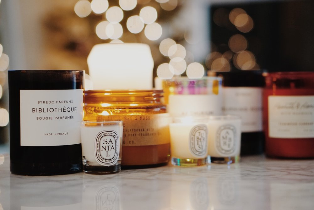 Winter Candle Lineup Diptyque Minis Byredo Overose Hearth & Hand