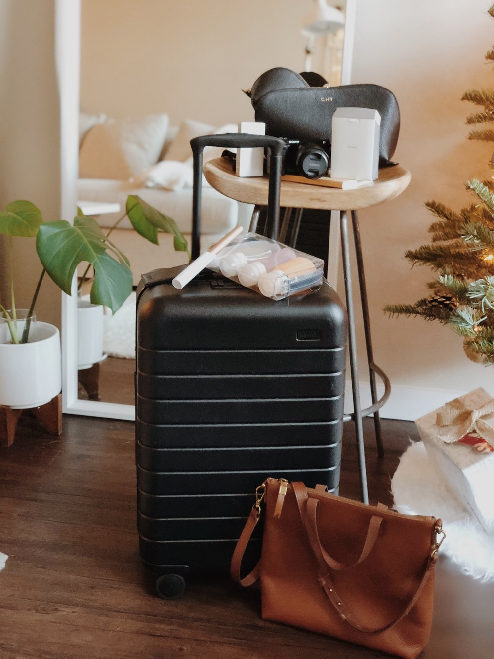 CHY Gift Guide Traveler Gifts - Away Luggage, Madewell, Cuyana, Sony, Fujifilm