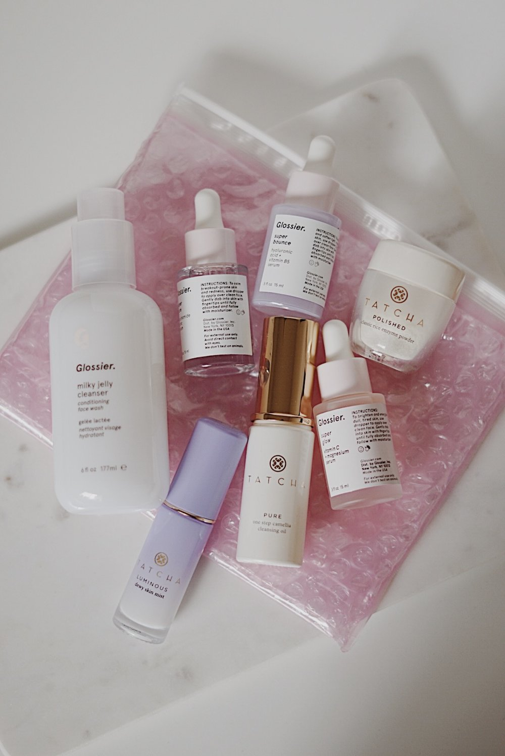 Skincare Giveaway Blogmas - Tatcha and Glossier