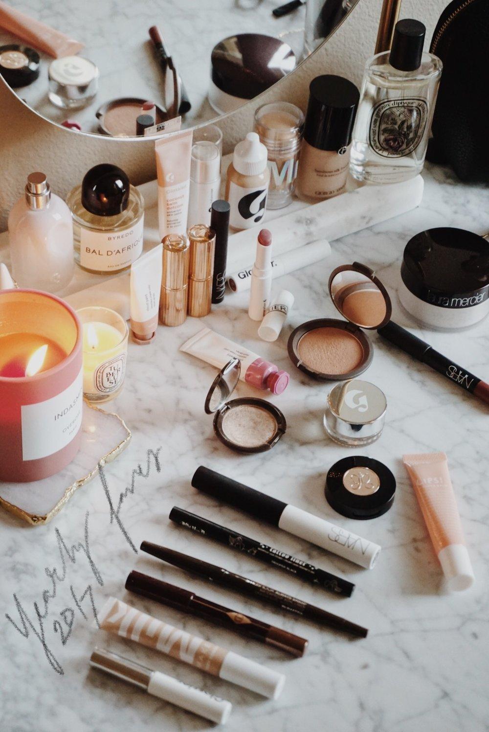 CHY Beauty Favorites - Glossier, Giorgio Armani, BECCA, Go-To Skincare, Charlotte Tilbury, Byredo, Tarte, Kat Von D
