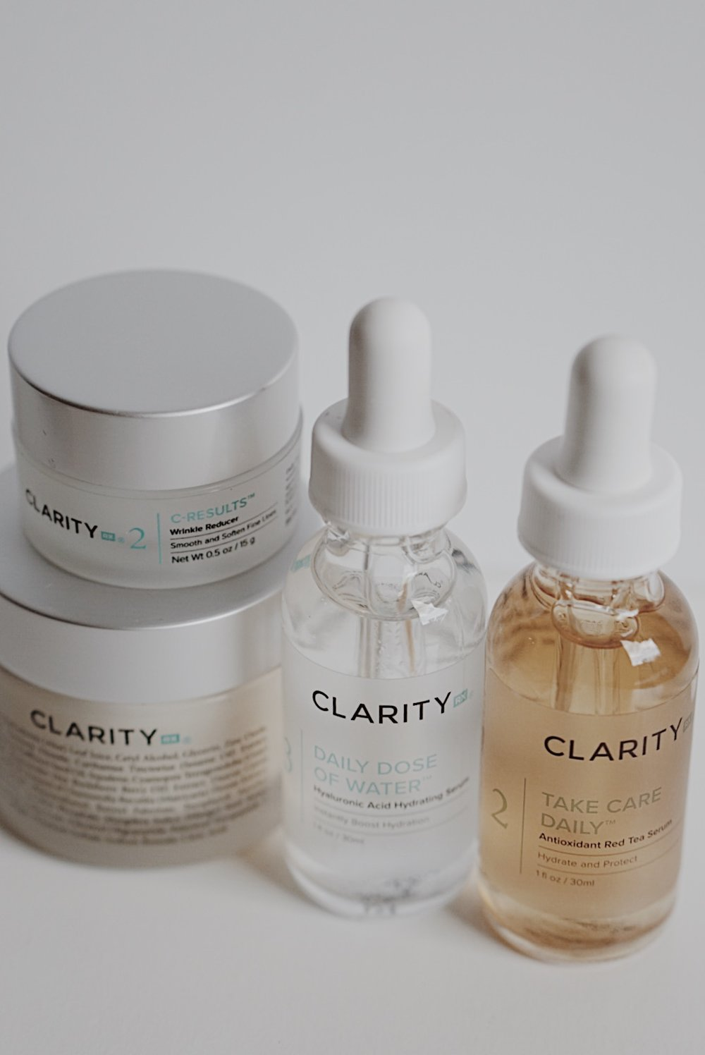 ClarityRX Daily Dose of Water, Take Care Daily Antioxidant Red Tea Serum, C-Results Wrinkle Reducer, Daily Fruit Antioxidant Moisturizing Mango Mask
