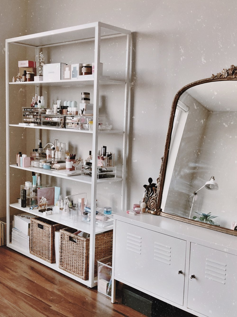 CHY Beauty Office Storage - Ikea, West Elm, The Container Store, Anthropologie