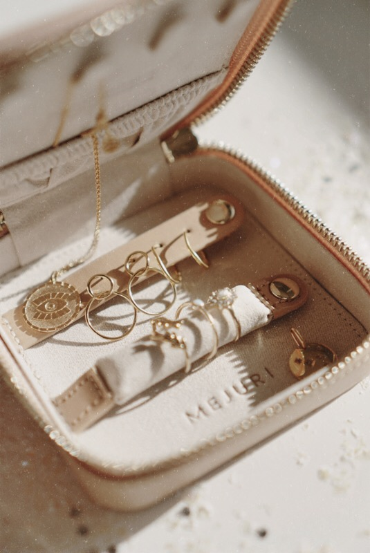 Jewelry Collection - Mejuri and Travel Case