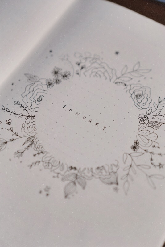 CHY, Bullet Journal, Blog Bullet Journal, Floral Lines