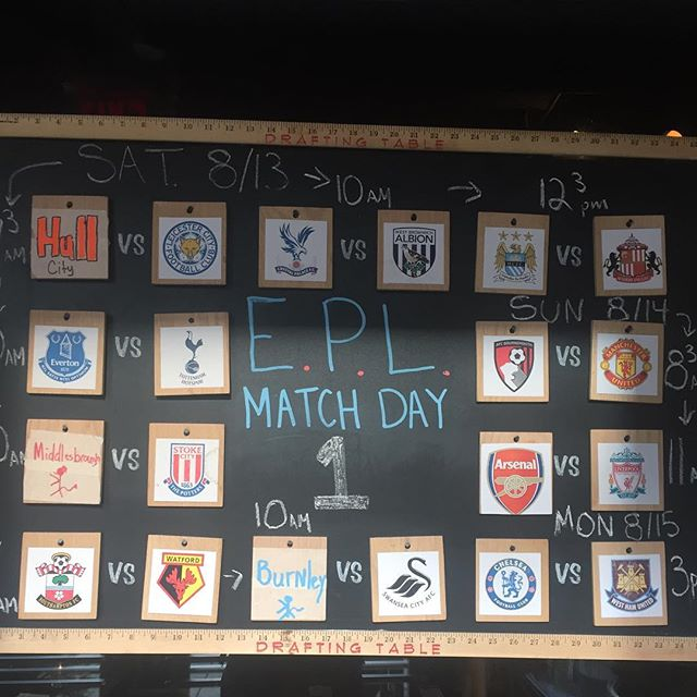 Oh shit! It's that time of the year again! What what! The epl is back! Who's going to finish last? Who's going to win the league? Where will Arsenal finish? Will Mata ever play for Manchester United again? Will Hull City have any players on the bench? #happiness #epl #soccer #dc #dcbrunch #soarsenally #united #dcsoccer