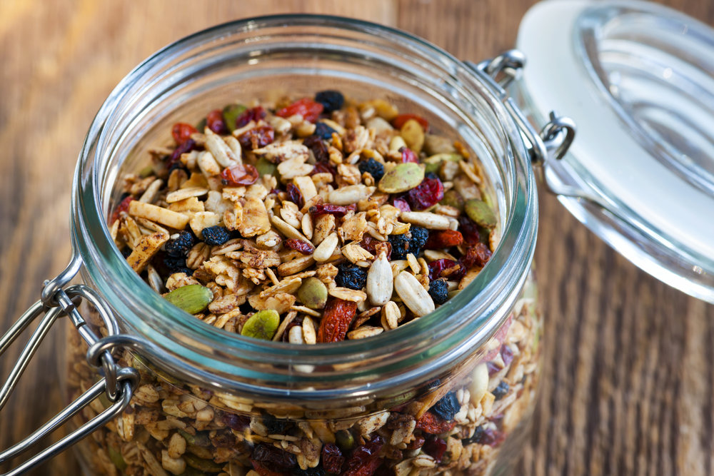 Healthy, Crunchy, Delicious Granolas - baked by hand, by a mum, in a kitchen just like yours.
