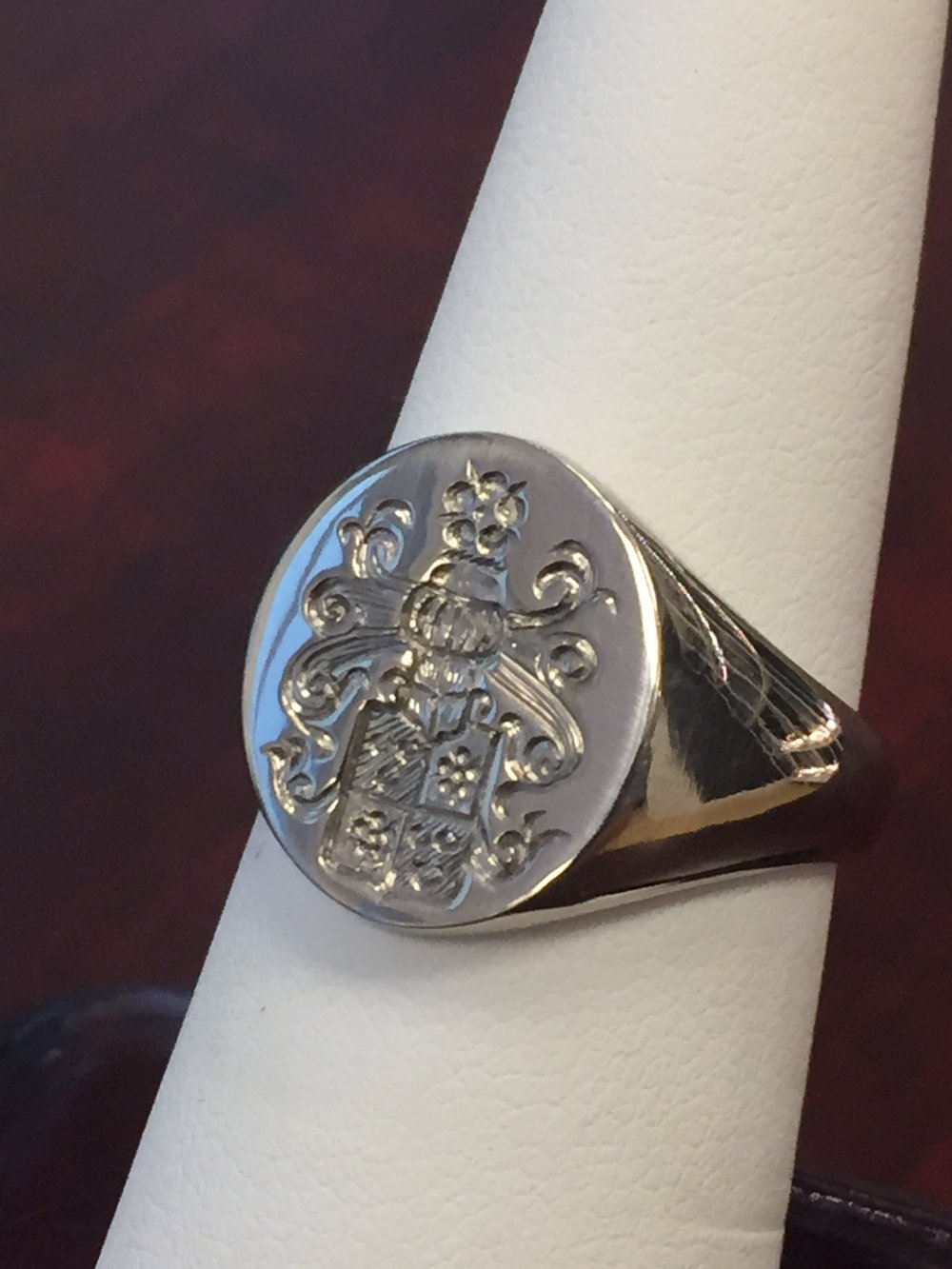 Hand engraved signed ring