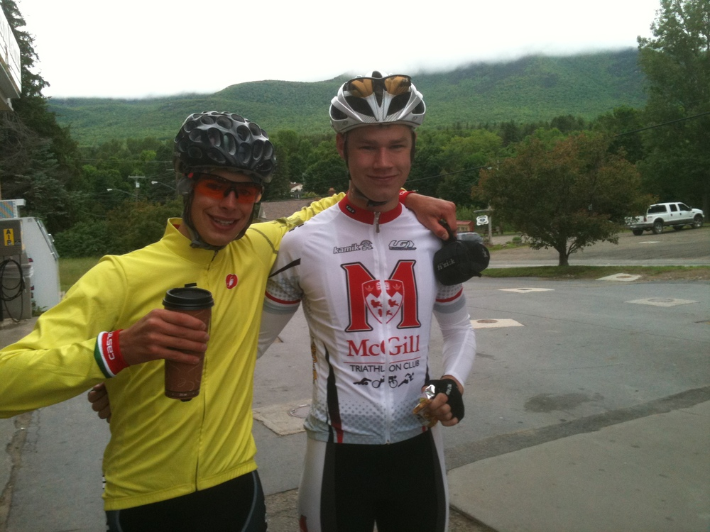Left: Antoine Jolicoeur Desroches, right: Brendan Gribbons at a training camp in Lake Placid. Photo by: Patrick Janukavicius