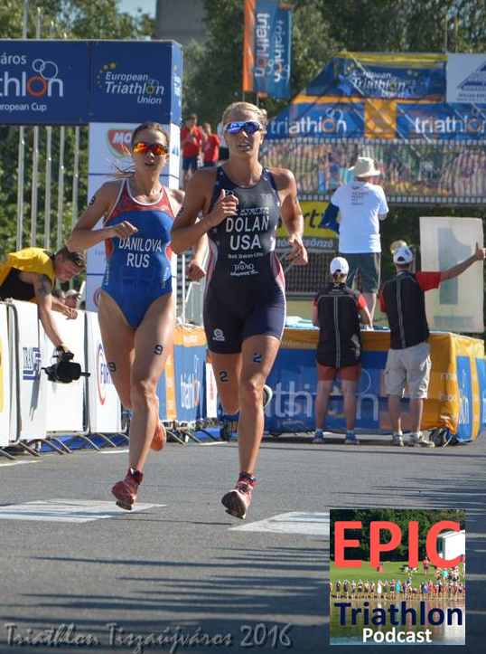 Erin Dolan at the Tiszaujvaros ITU World Cup.