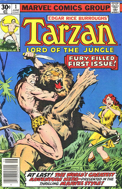 Marvel's Tarzan, Lord of the Jungle #1. They started with a new number one because, you know, Marvel.