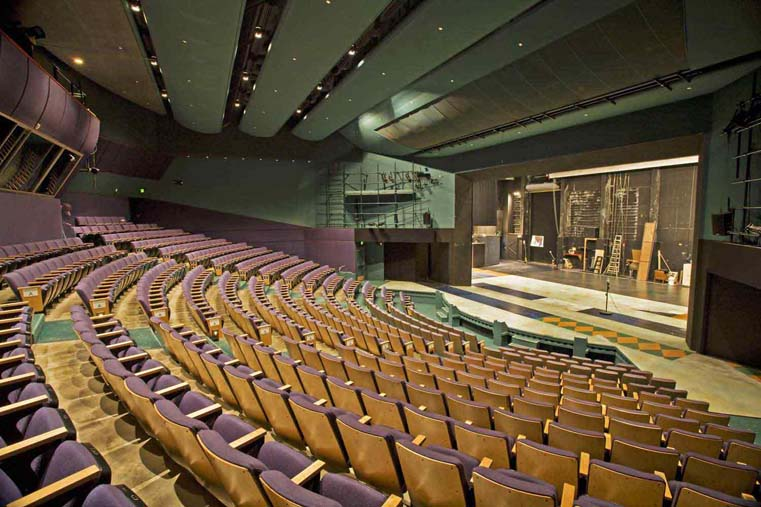 Recent image of the Charlotte Martin Theatre. The first three rows of seats were the ones installed