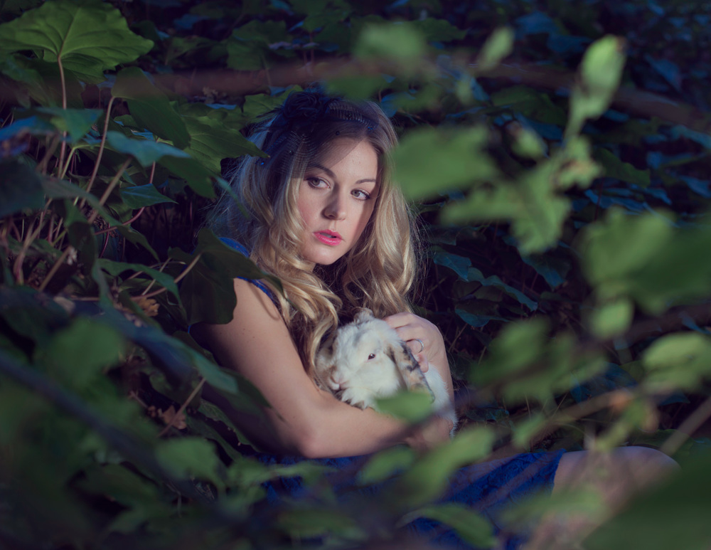 Alice and the white rabbit // Ashley Petersen Photography