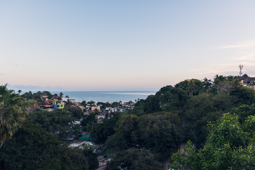 View of downtown Sayulita, Mexico at sunrise // Ashley Petersen Photo