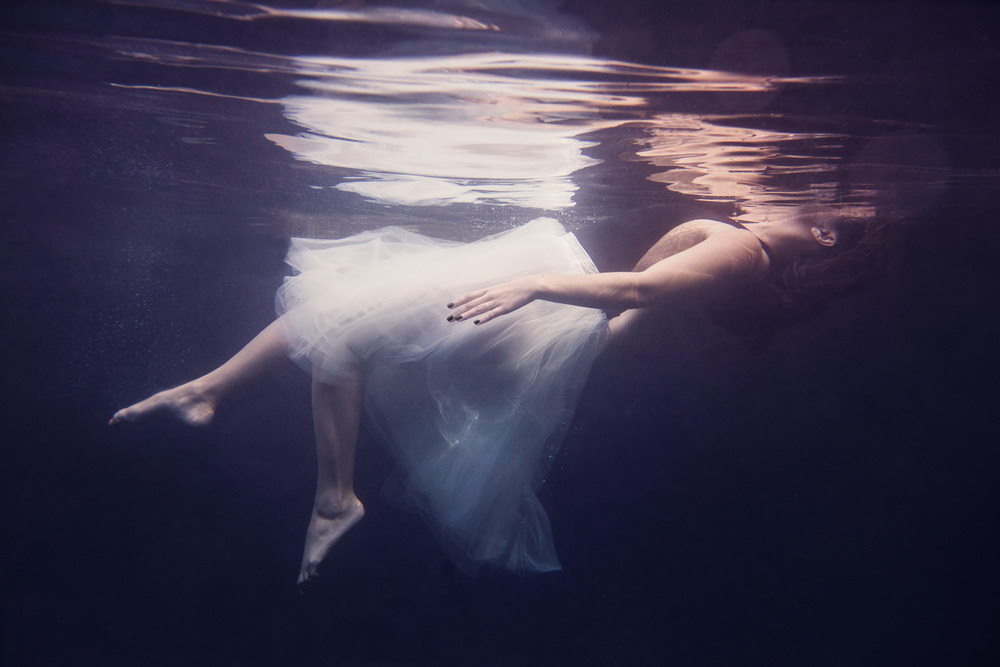 Underwater Dancer in Tulle Skirt // Ashley Petersen Photo