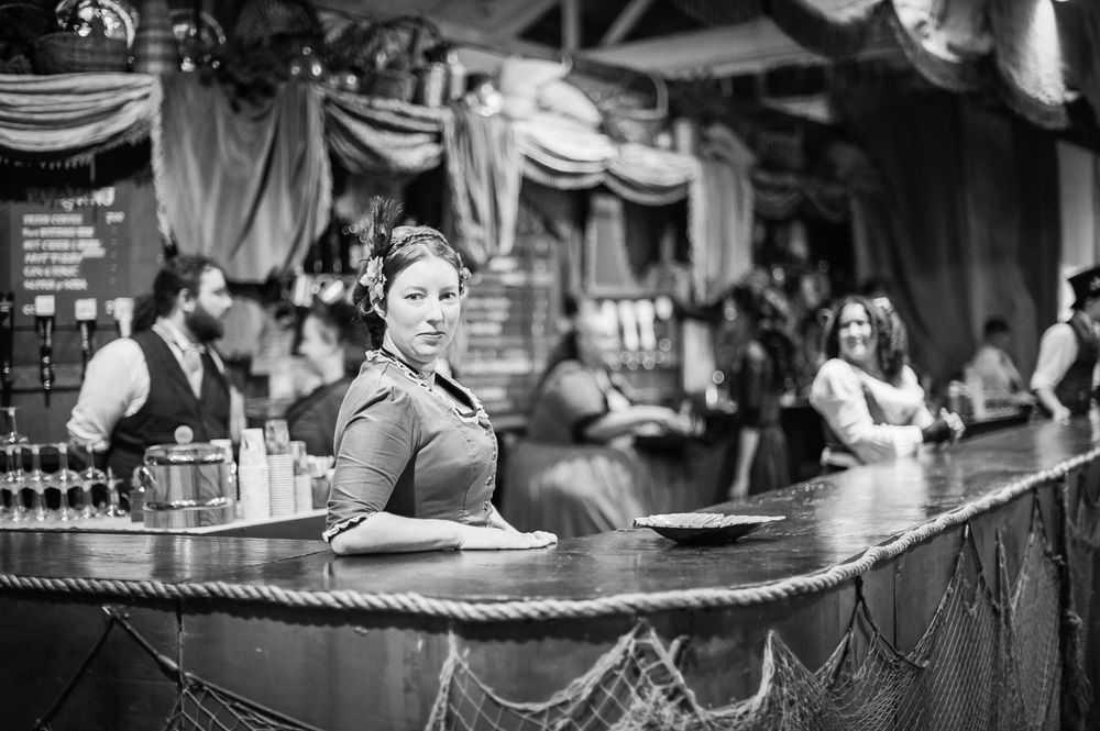 Grab a drink at the Great Dickens Christmas Fair // Ashley Petersen Photo