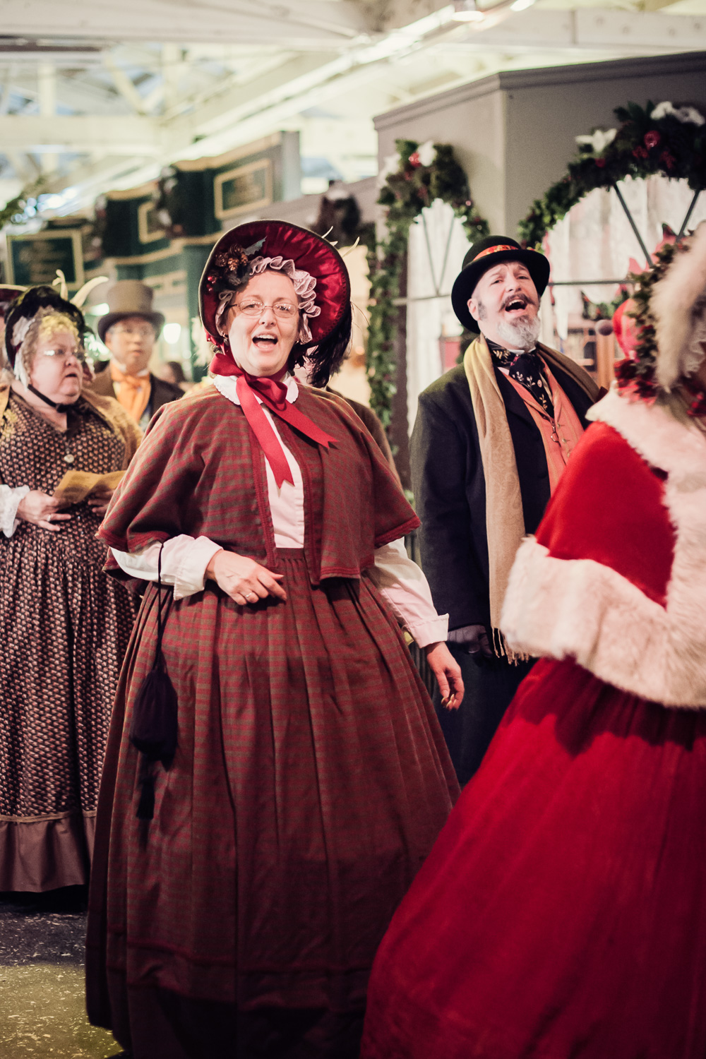 Carolers at the Great Christmas Dickens Fair // Ashley Petersen Photo