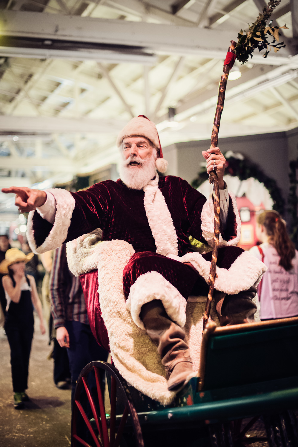 Father Christmas at The Great Christmas Dickens Fair // Ashley Petersen Photo
