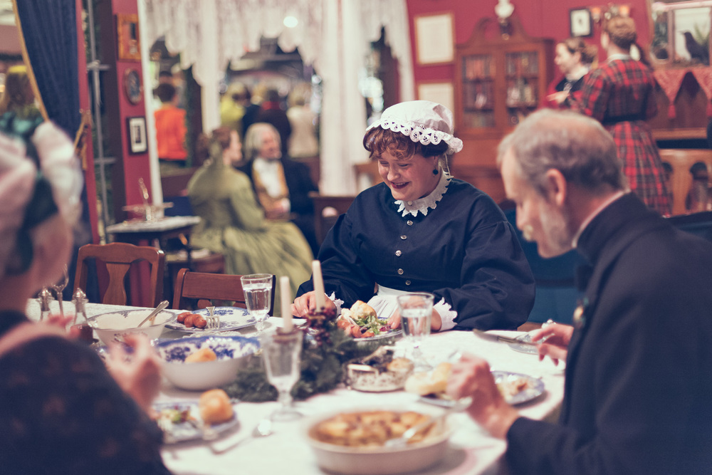 Holiday dinner // The Great Christmas Dickens Fair // Ashley Petersen Photo