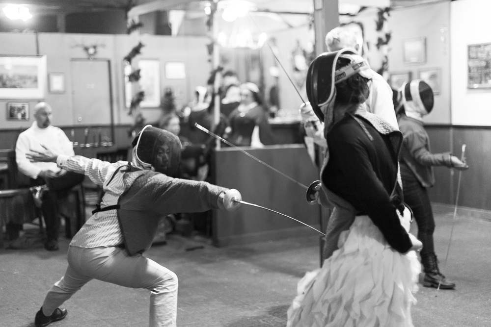 Fencing // The Great Christmas Dickens Fair // Ashley Petersen Photo