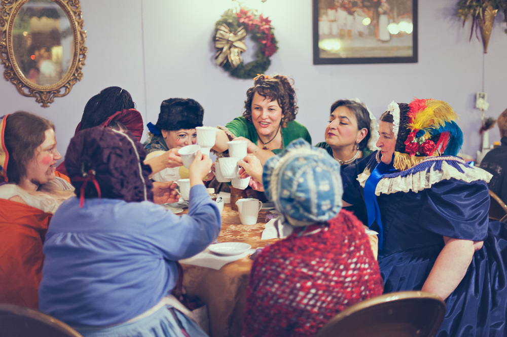 Ladies Tea // The Great Christmas Dickens Fair // Ashley Petersen Photo