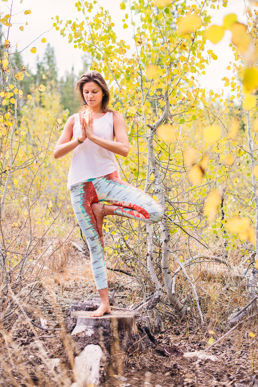 Yogi Ashley Dien // Tree Pose (With lotus prayer)  // Ashley Petersen Photo