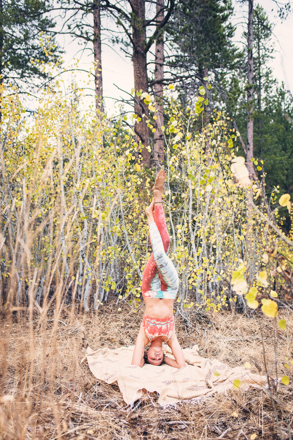 Yogi Ashley Dien // Classical Headstand Variation (Salambra Sirsana)  // Ashley Petersen Photo