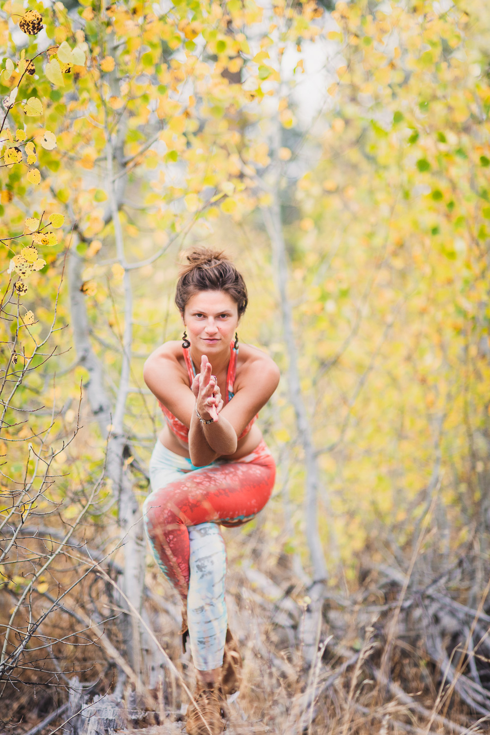 Yogi Ashley Dien // Eagle Pose (Garudasana) // Ashley Petersen Photo