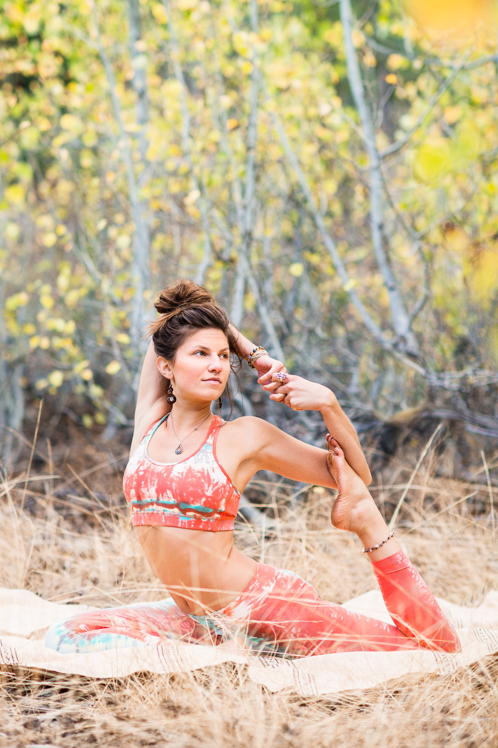Yogi Ashley Dien // One-legged King Pigeon Pose with bind (Eka Pada Rajakapotasana)  // Ashley Petersen Photo