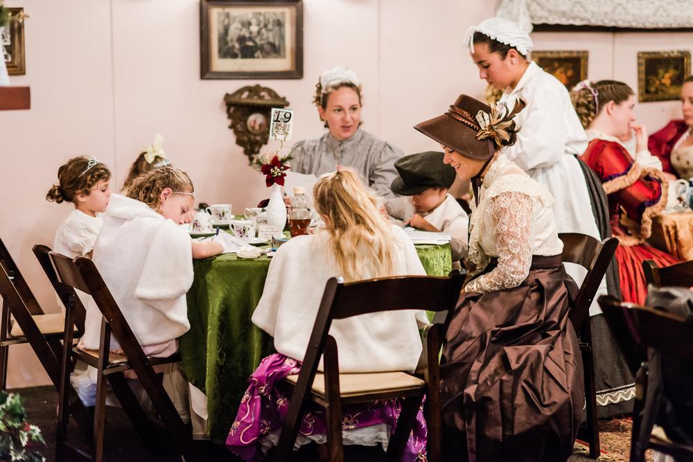 Tea at DIckens Fair // Ashley Petersen Photo