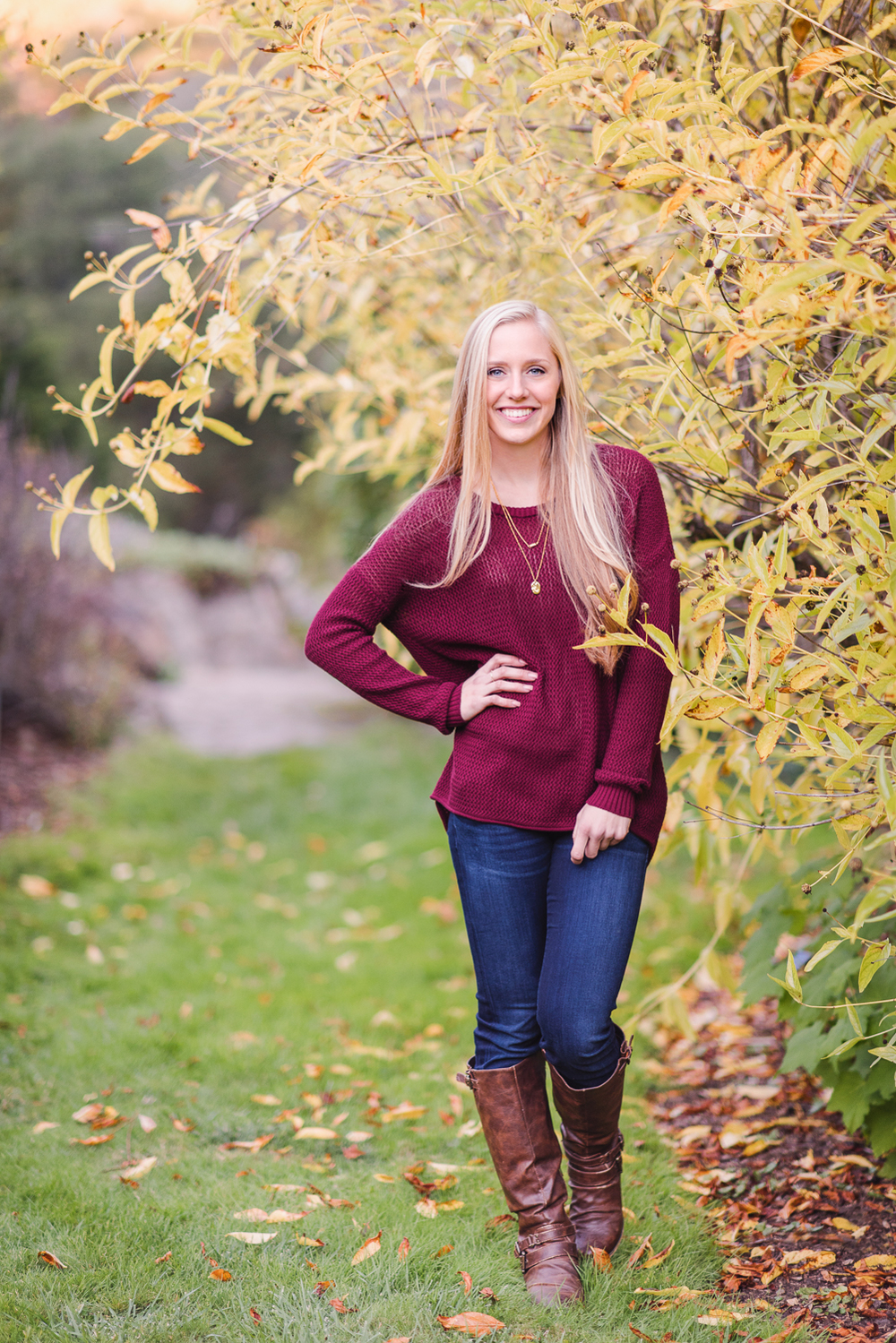 Senior Fall Portrait in Tilden Botanical Garden // Ashley Petersen Photo