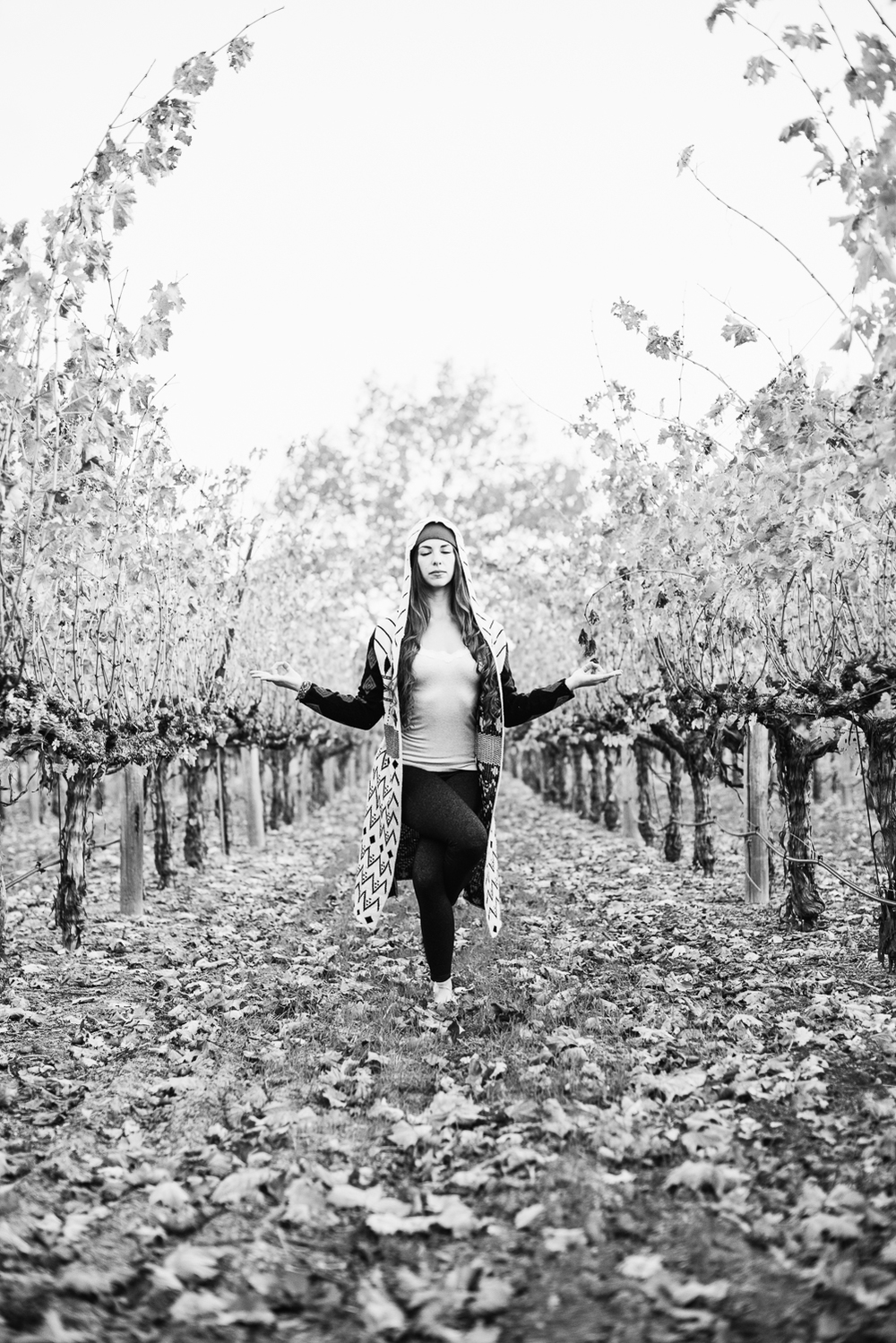 Yoga in Napa in the fall // Eagle Pose Variation // Ashley Petersen Photo