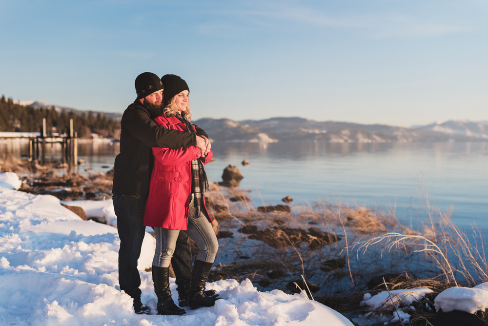 Lake Tahoe Snow Engagement