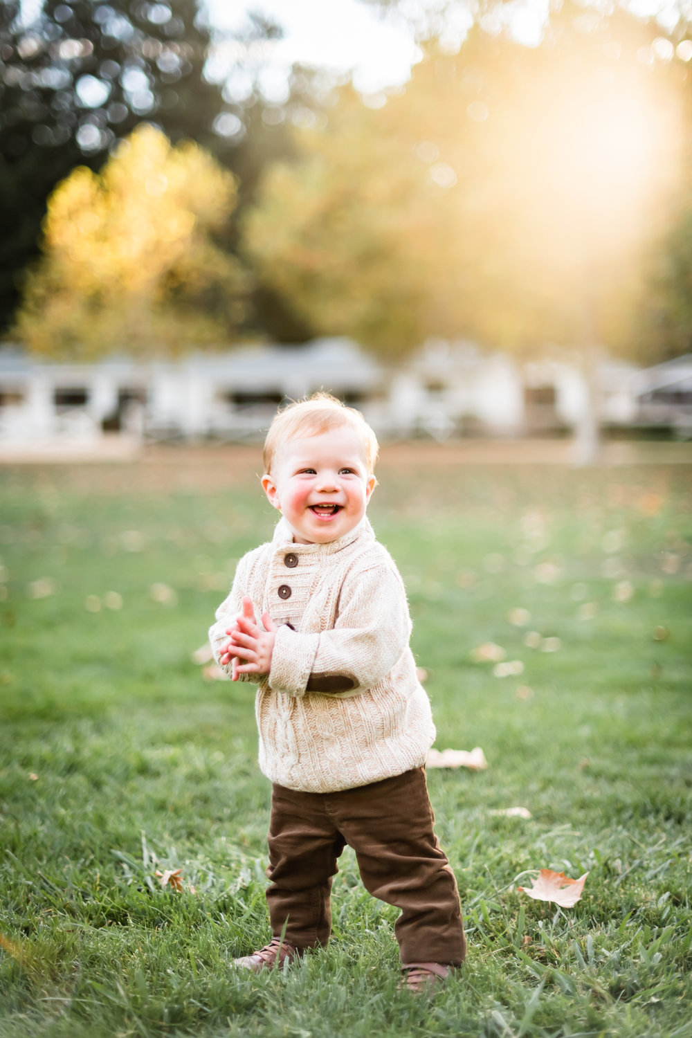 A photo of their toddler during the family lifestyle photo session at Hap Magee Park in Danville, CA