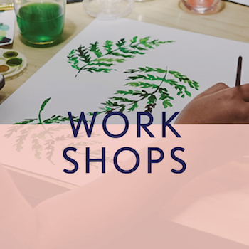 Find an inspiring workshop - everything from watercolour to paper art;  jewellery to embroidery - you will find it here!