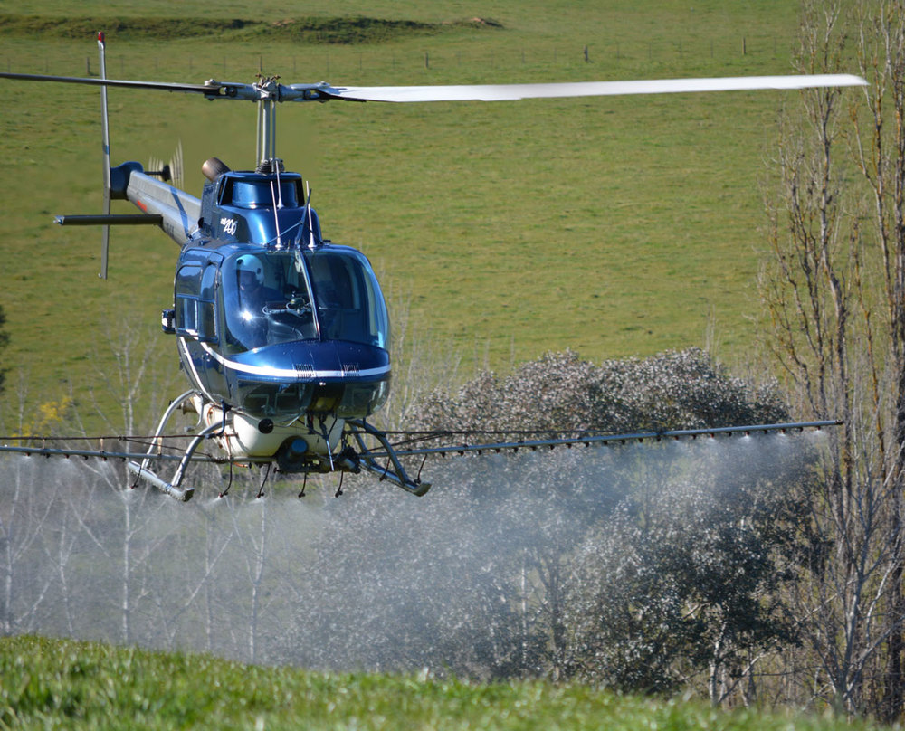 Helicopter Spraying in the Upper Murray