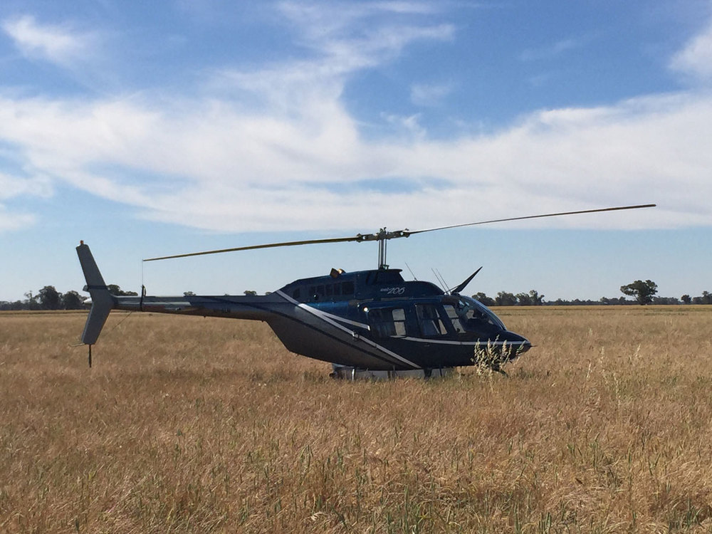 Helicopter Crop Spraying Corowa NSW