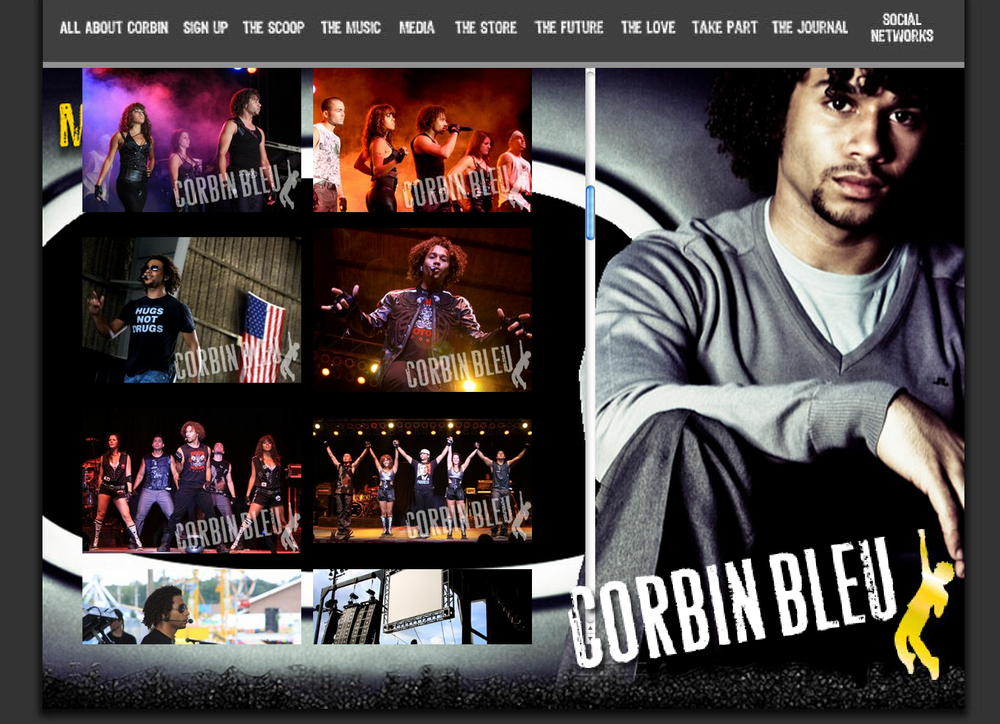 Corbin Bleu Tour Pics Website