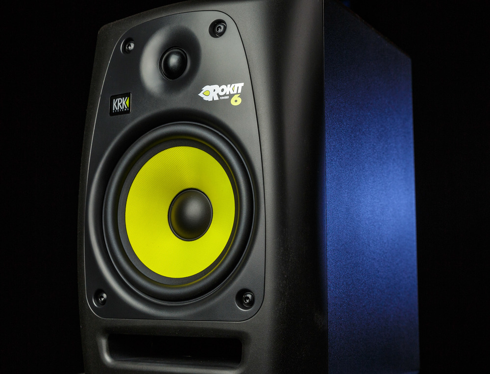The KRK Rokit 6's are an affordable active monitor that feature a bass port in the front.