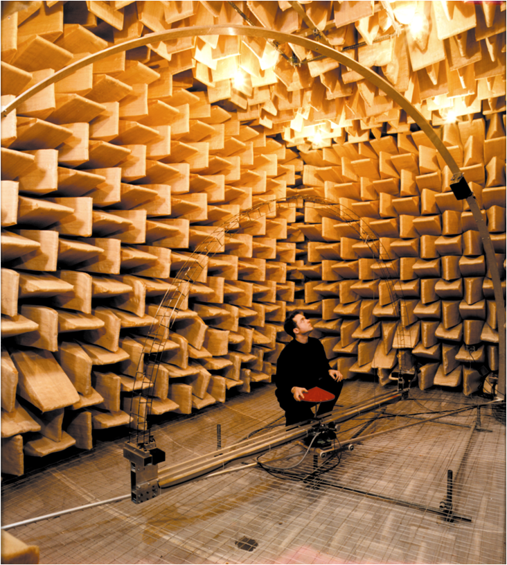 The room of silence. Salford University Anechoic Chamber.