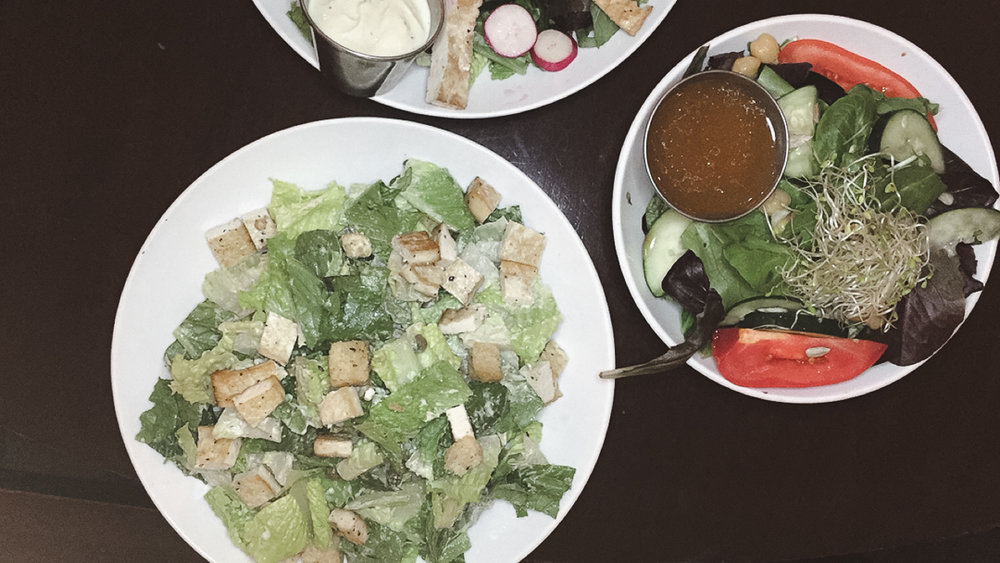 Classic Caesar Salad and Violette's House Salad
