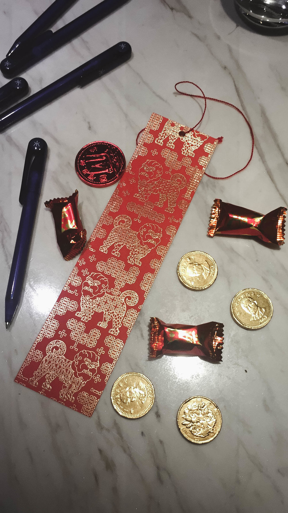 We wrote out our wishes for 2018 for the restaurant to hang up. Our leaders Melanie and Stephanie hooked it up with chocolate gold coins and candy. YUM!