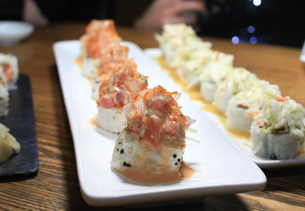 Hott Mess Roll - Crab, sashimi pole, avocado, screaming o sauce