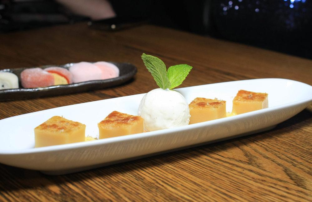 Matcha Coconut Rice Cake - Lemongrass ice cream, macadamia and coquet nuts
