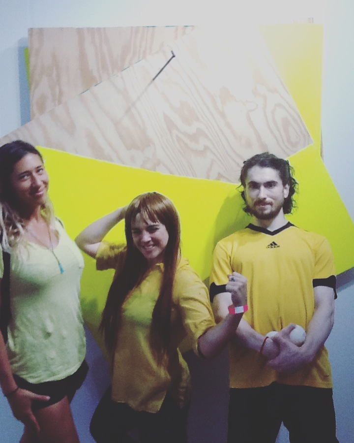 Yellow live once! Scope Miami (Abby, Eva, and Michael)