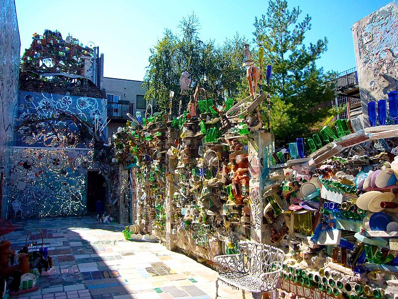 Philadelphia's Magic Gardens is a non-profit organization, folk art environment, and gallery space on South Street in Philadelphia, Pennsylvania.