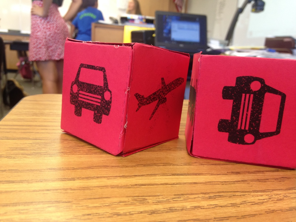 Transportation dice were used to model carbon emissions in  Carbon Die-Oxide.