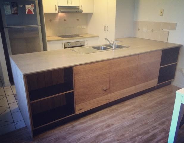 kitchen bar back cabinet — Leaf Handcrafted Furniture