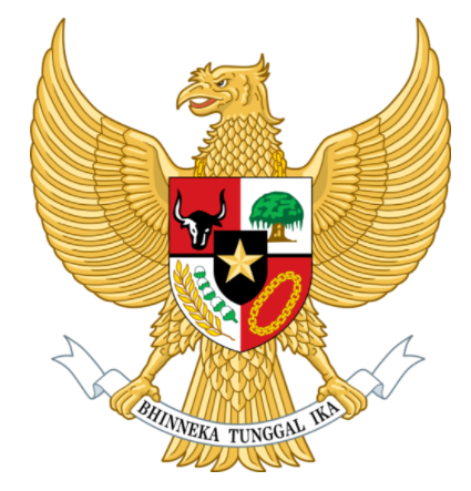 Garuda as represented today on Indonesia's national flag.